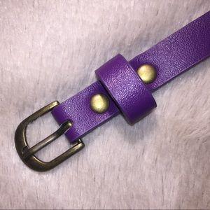 Purple statement belt